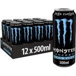 Monster Energy Zero Sugar, 12x500 ml, Einweg-Dose, mit klassischem Energy-Geschmack und Zero Zucker