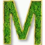 Moosly® Moosbuchstabe - M Selbstklebend Made in Germany Moosbild Wandbild Moos Deko Holzbuchstabe Wandtattoo Wanddeko   Ca. 12 X 6 cm