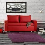 Rote Moderne Mooved Möbel Breite 150-200cm, Höhe 50-100cm, Tiefe 50-100cm für 2 Personen