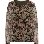 More & Bluse, gemustert, elegant, Langarm, für Damen, khaki/mehrfarbig, 38