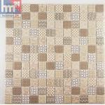 Mosaikfliese Maschito weiß beige grau braun Retro Muster Mosaik Pool Bad Küch...