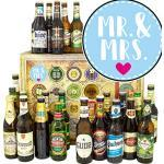 Mr. & Mrs. / Bier Set Welt und DE/Hochzeitsgeschenk brautpaar/Adventskalender Bier