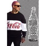 Mr. Tee Coca Cola Stripe Oversize Crewneck black