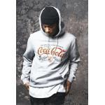 Mr. Tee Old Coca Cola Logo Hoody grey