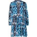 Mrs & Hugs Seidenkleid blau