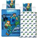 """MTOnlinehandel Bettwäsche »Minecraft Bettwäsche 135x200 + 80x80 cm 2 tlg., 100 % Baumwolle, coole & starke Kinder- und Jugendbettwäsche """" Minecraft Survive """" Unterwasserwelt«"""
