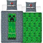 MTOnlinehandel Bettwäsche »Minecraft Bettwäsche 135x200 + 80x80 cm 2 tlg., 100 % Baumwolle, Gamer Creeper für Kinder, Teenager, Jugend«