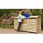 Mülltonnenboxen aus Holz, 3er, für Mülltonnen bis 240 Liter
