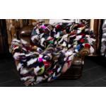 Multicolor Pelz Decke aus kuscheligen Blaufuchsseiten