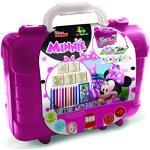 Multiprint - Disney Minnie Maus Reise-Koffer,, Malbalbuch mit Puzzle und Bleistiften, Set für Kinder, aus Holz und Naturkautschuk, waschbare Tinte, ungiftige Geschenkidee, 42866