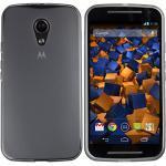 mumbi Hülle kompatibel mit Motorola Moto G2 Handy Case Handyhülle, transparent schwarz