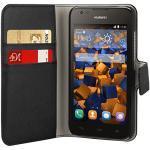 mumbi Tasche Bookstyle Case kompatibel mit Huawei Y625 Hülle Handytasche Case Wallet, schwarz