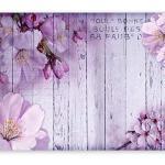 murando Fototapete Blumen 400x280 cm Vlies Tapeten Wandtapete XXL Moderne Wanddeko Design Wand Dekoration Wohnzimmer Schlafzimmer Büro Flur Blume rosa pink Holz Bretter b-A-0202-a-c
