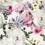murando Vlies Tapete Blumen - Deko Panel Fototapete Wanddeko 10 m Tapetenrolle Mustertapete Wandtapete modern design Dekoration – Rosen f-B-0263-j-b