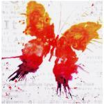 my home Gemälde Papillon, (70/3,5/70 cm) bunt Bilder Bilderrahmen Wohnaccessoires