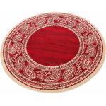 my home Teppich »Maite«, rund, Höhe 8 mm, mit Bordüre, Wohnzimmer, rot, rot