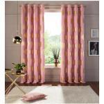 my home Verdunkelungsvorhang Kreise, Foliendruck rosa Wohnzimmergardinen Gardinen nach Räumen Vorhänge