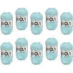 myboshi, No.1 Wolle, 70% Polyacryl, 30% Merinowolle, Himmelblau, 10x 50g, 55m, 10 Knäuel, Garn zum Häkeln und Stricken, Formstabil, Pflegeleicht, Mulesingfrei