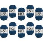 myboshi, No.1 Wolle, 70% Polyacryl, 30% Merinowolle, Marine, 10x 50g, 55m, 10 Knäuel, Garn zum Häkeln und Stricken, Formstabil, Pflegeleicht, Mulesingfrei