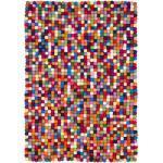 myfelt Filzkugelteppich Lotte bunt rechteckig 50 x 70 cm