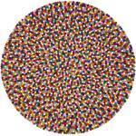 myfelt Filzkugelteppich Lotte mehrfarbig bunt rund Ø 160 cm