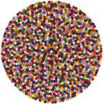 myfelt Filzkugelteppich Lotte mehrfarbig bunt rund Ø 90 cm