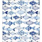 MySpotti Fensterfolie Look Shoal, halbtransparent, glattstatisch haftend, 90 x 100 cm, statisch haftend blau Fensterdekoration Deko Wohnaccessoires