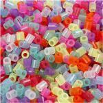 NABBI Bügelperlen 5 x 5mm glitterfarben medium 1100 Stück