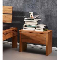 Nachttisch aus Wildbuche Massivholz 50 cm breit