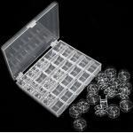 Nähmaschinenspulen inklusive Aufbewahrungsbox, transparent, 25 Stück