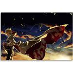 Naruto Yondaime Hokage Wandbild 120x80cm XXL Bilder und Kunstdrucke auf Leinwand