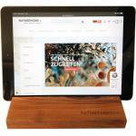 NATUREHOME Küchenhelfer-Set »Tablet-Halter versch. Holzarten 19,5 x 12,5 x 2,5«, braun, nussbaum