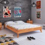Braune Moderne Basilicana Betten-Kopfteile geölt aus Massivholz