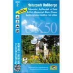 Naturpark Haßberge 1 : 50 000 (UK 50-2) - weiß - Deutschland