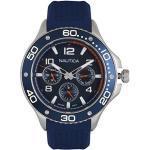 Nautica Herren Analog Quarz Uhr mit Silikon Armband NAPP25002