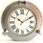 Nautical Collection Store Vintage Navigation Marine Silber Schiff Bullauge Uhr Schiff Fenster Wanduhr Home Deko