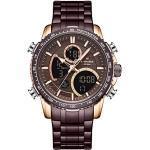 NAVIFORCE Herren Digital Sport Chronograph Uhr Multifunktionale wasserdichte Militär Quarz Edelstahl Uhren