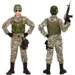 Navy-Seal Kinder Kostüm-Set / Karneval Fasching Militär Armee US Army Soldaten