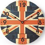 Nedis by STELER Wanduhr »Wanduhr Ø 30cm, rund, Batteriebetrieb« (Küchenuhr, analoge Quarzuhr, Wohnzimmer, Großbritannien UK Flagge, Union Jack)