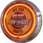 Neonuhr Chevy - Parts Wanduhr Deko-Uhr Leuchtuhr USA 50's Style Retro Uhr