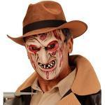 NET TOYS Freddy Krüger Zombie Maske Killer Monstermaske Horror Zombiemaske Halloween Monster Halloweenmaske Horrormaske Bestie Grusel Faschingsmaske Untoter Karneval Kostüm Accessoires