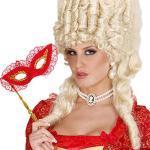 NET TOYS Perlenkette mit Brosche Cameo Kette Barock Halskette Rokoko Halsschmuck Königin Schmuck Historische Mottoparty Accessoires Karnevalskostüme Zubehör Damen