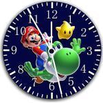 New Super Mario Yoshi Wanduhr 25,4cm Nice Geschenk und Raum Wand Decor W15