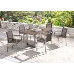 Niehoff Garden Gartentisch Nando mit Klappeinlage HPL-Platte Granit-De