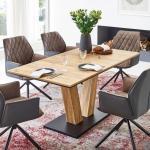 Schwarze Niehoff Tische aus Eiche Breite über 500cm, Höhe 50-100cm, Tiefe über 500cm