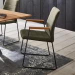 Niehoff ROVER Stuhl mit Armlehnen B: 530 H: 890 T: 620 mm, schwarz/anthrazit/grün 391204095