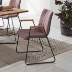Niehoff TIME Design Stuhl mit Armlehnen B: 550 H: 870 T: 595 mm, schwarz/eiche/platingrau/aubergine 191244852