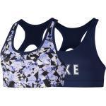 Nike Kinder Mädchen Sport-BH, schwarz/grau, Gr. 128