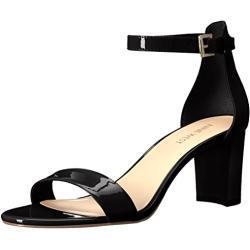 NINE WEST Damen Pruce Sandale mit Absatz, schwarz/schwarz, 41 EU