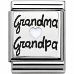 Nomination 332203 10 BIG - Edelstahl - Emaille + Silber - Grandma und Grandpa